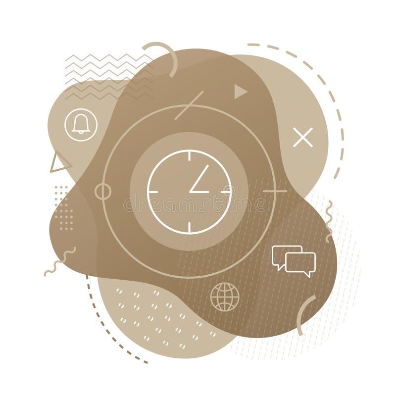 Czas ikona na nowożytnym tle ilustracja wektor