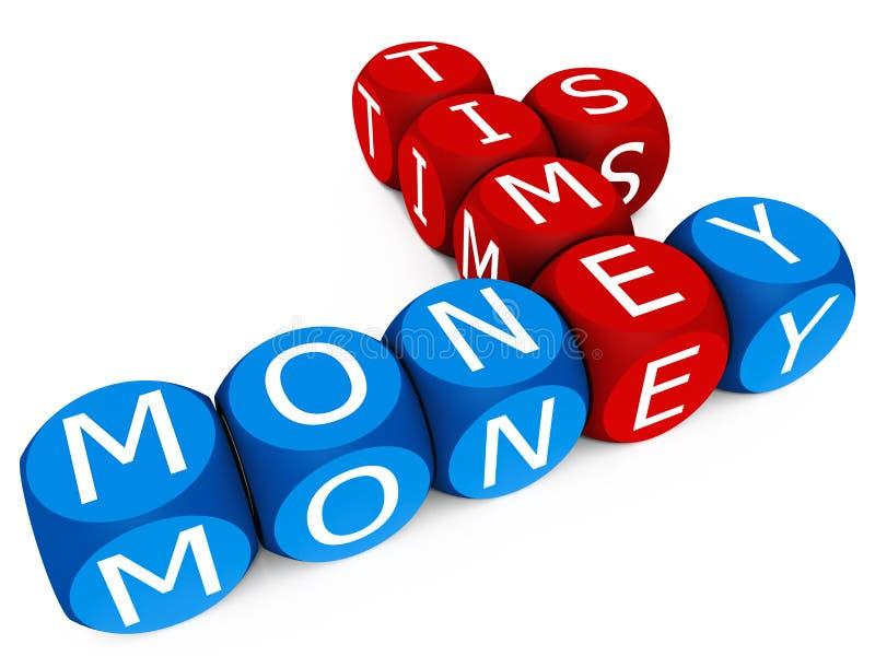Czas jest pieniądze ilustracja wektor