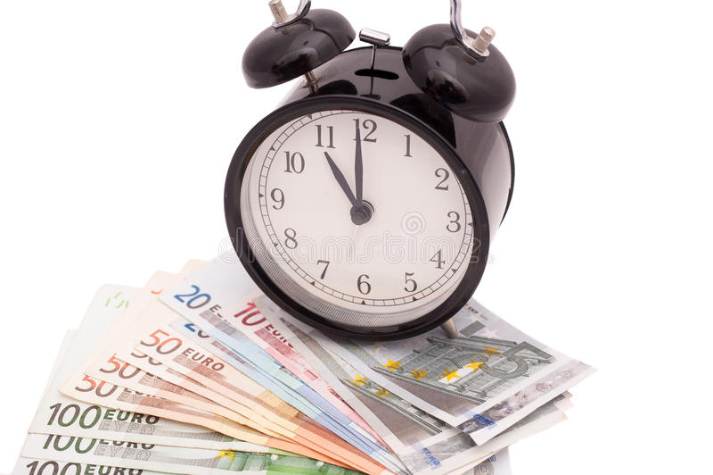 Czas jest pieniądze biznesu pojęciem zdjęcie stock