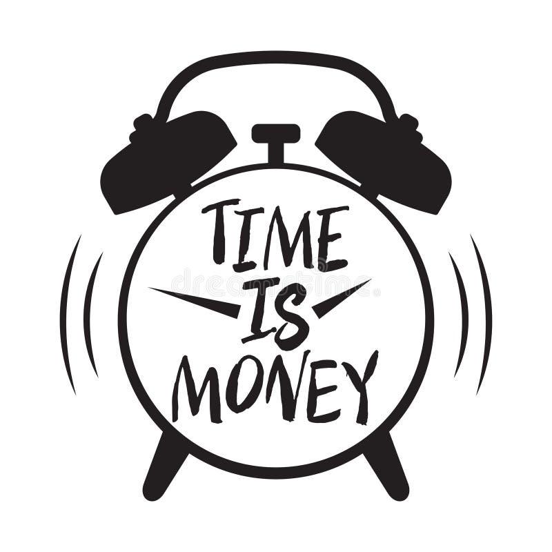 Czas jest pieniądze, czasu zarządzanie ilustracji