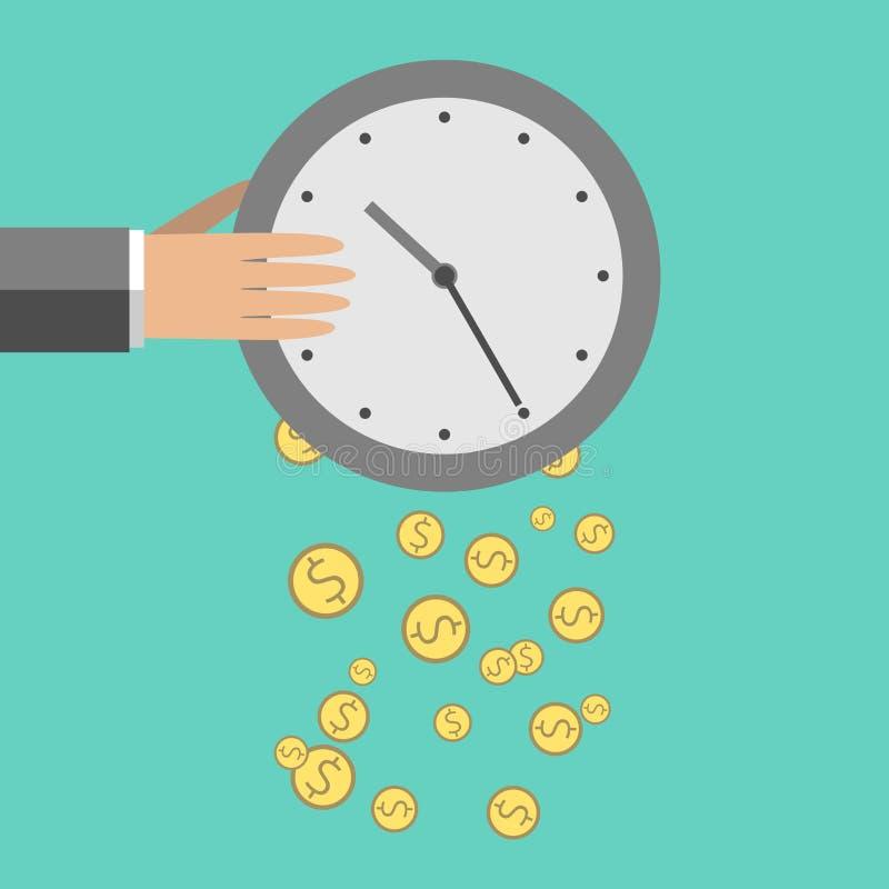 Czas jest pieniądze ilustracją royalty ilustracja