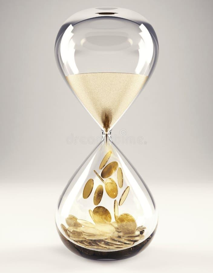 Czas jest pieniądze pojęcia 3D renderingiem ilustracja wektor