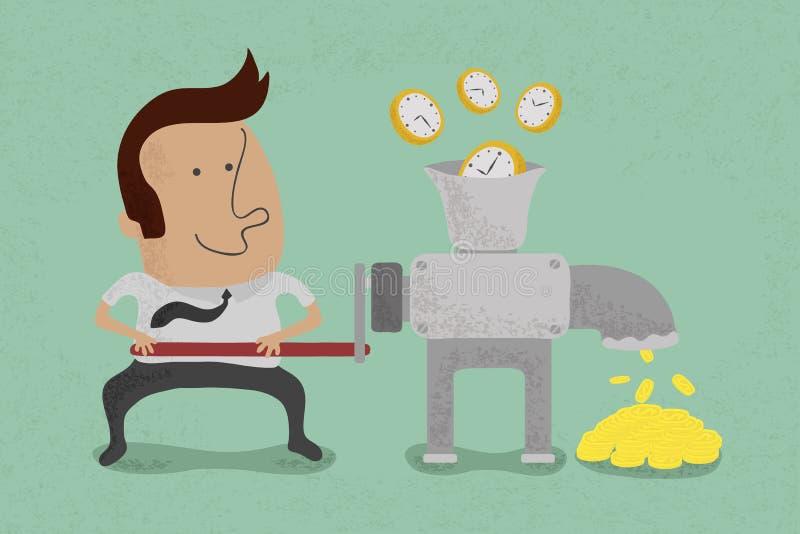Czas jest równy pieniądze ilustracji