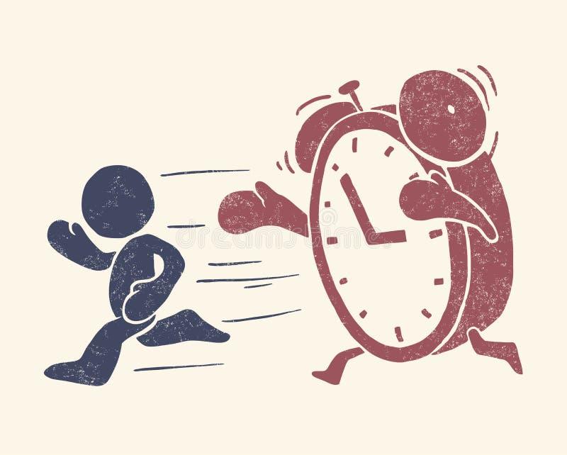 czas konceptualny ilustracyjny rocznik ilustracja wektor