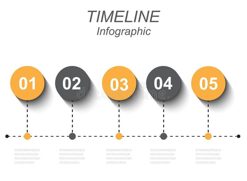 Czas linii grafiki projekta szablon royalty ilustracja