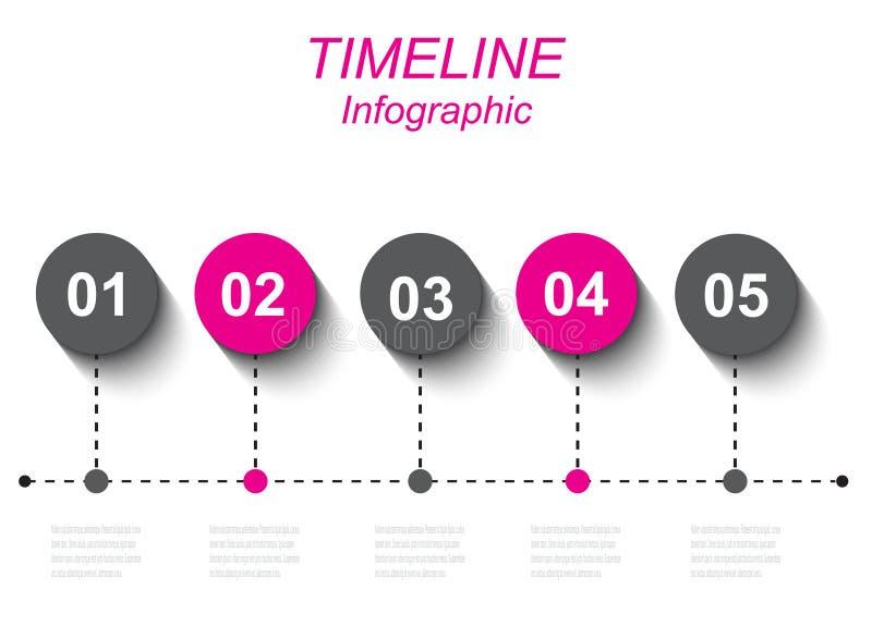 Czas linii grafiki projekta szablon ilustracji