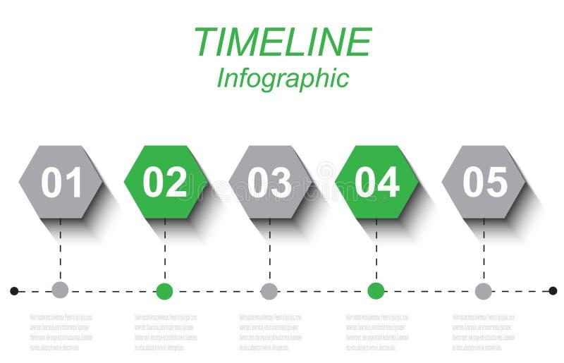 Czas linii grafiki projekta szablon ilustracja wektor
