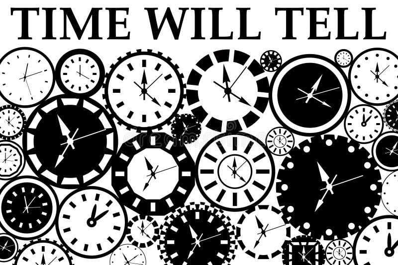 Download Czas mówi ilustracji. Ilustracja złożonej z czujka, cele - 28959482