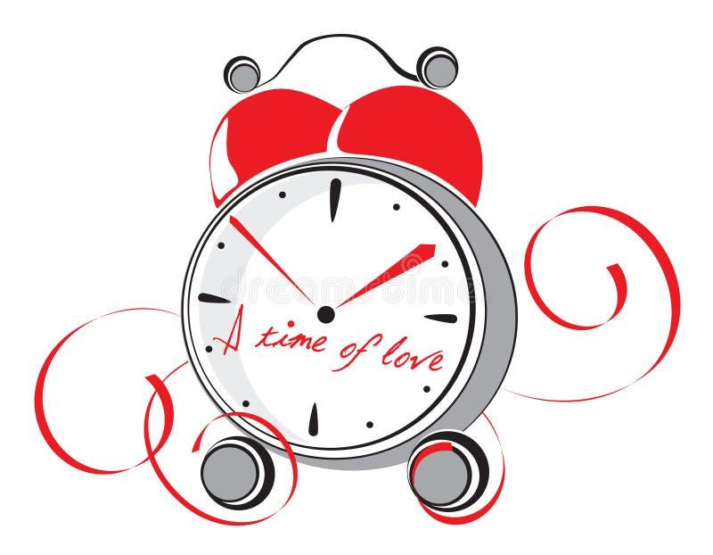 Czas miłość ilustracja wektor