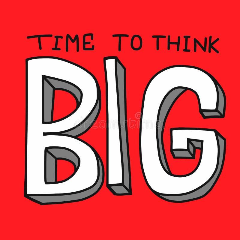 Czas myśleć dużego słowo wektor ilustracyjny ilustracja wektor
