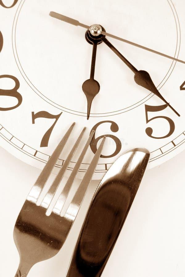 czas na kolację zdjęcie stock