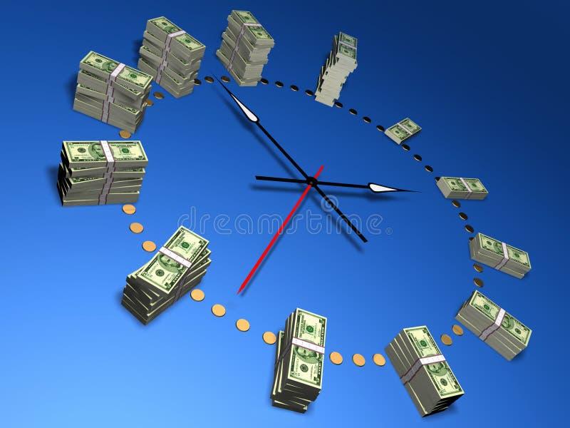 czas, pieniądze ilustracji