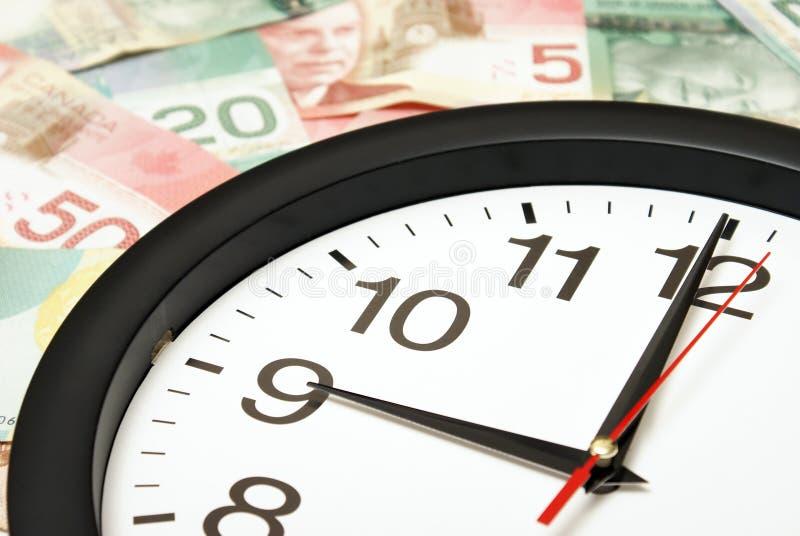 Czas Pieniądze jest zdjęcie stock