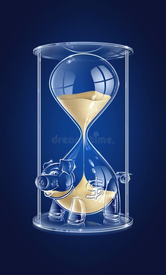 Download Czas, pieniądze ilustracji. Obraz złożonej z airbrush - 5250847