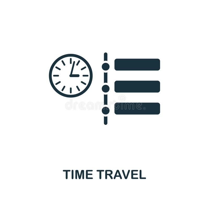 Czas podróży ikona Premia stylu projekt od przyszłościowych technologii ikon inkasowych Piksel doskonalić czas podróży ikona dla  ilustracji