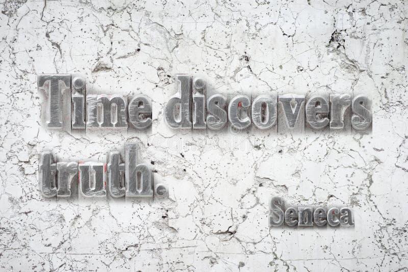 Czas prawdy Seneca zdjęcia stock