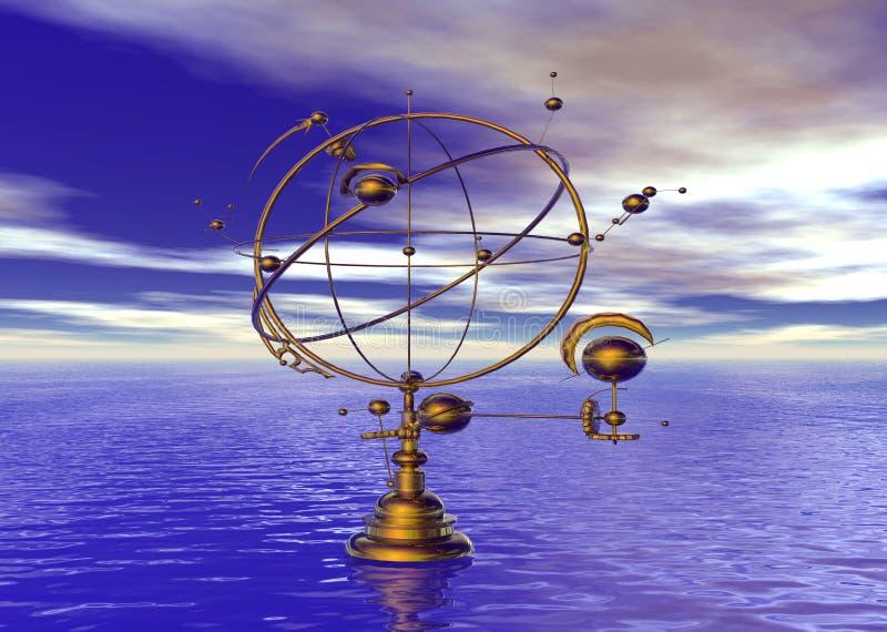 czas przypływu kosmicznych ilustracja wektor