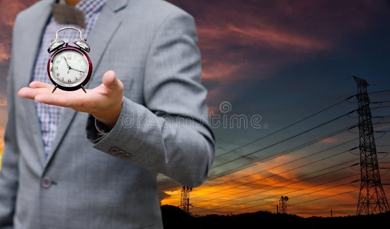 Czas save elektryczności pojęcie fotografia stock