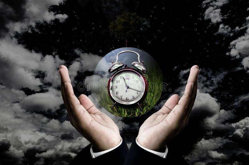 Czas save planety pojęcie zdjęcia royalty free