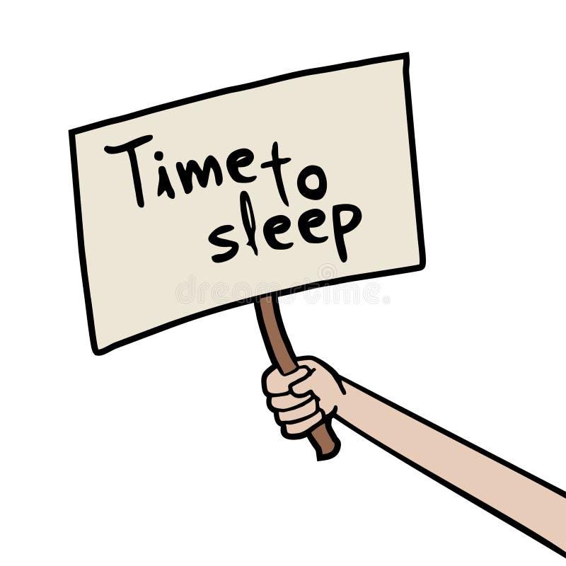 Czas spać wiadomość ilustracji