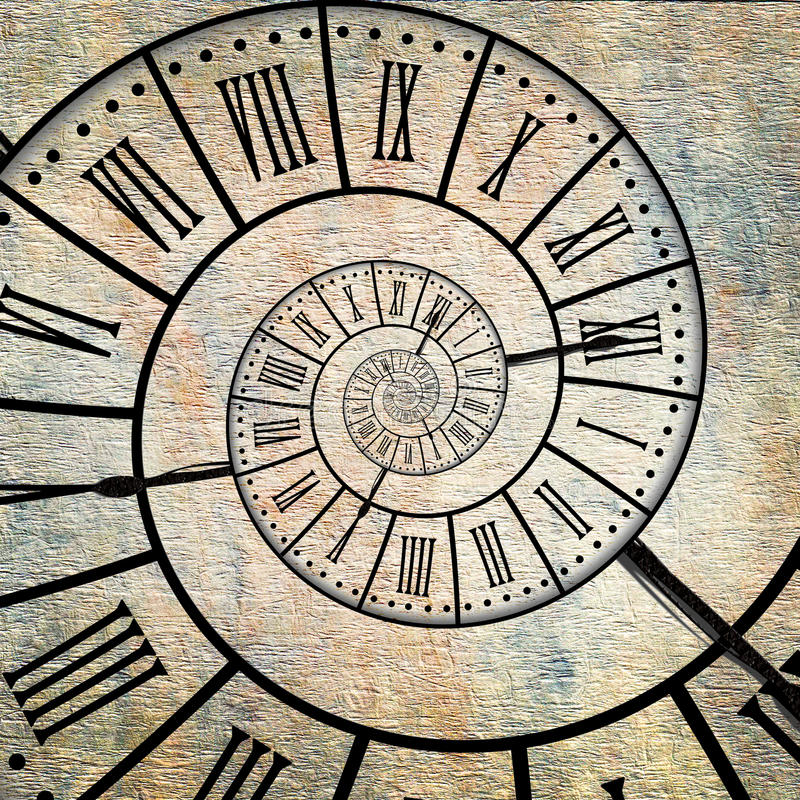 Czas spirala, rocznik sepiowy fotografia stock