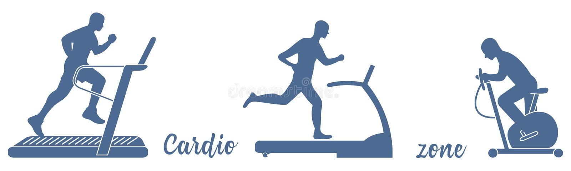 Czas sprawność fizyczna i sporty Zdrowy Styl życia ilustracja wektor