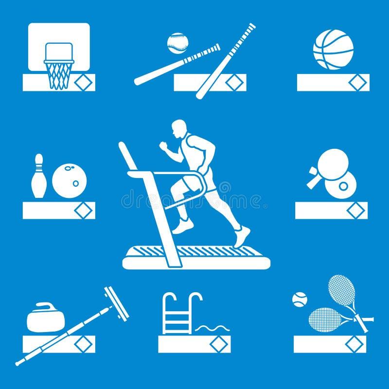 Czas sprawność fizyczna i sporty Zdrowy Styl życia royalty ilustracja