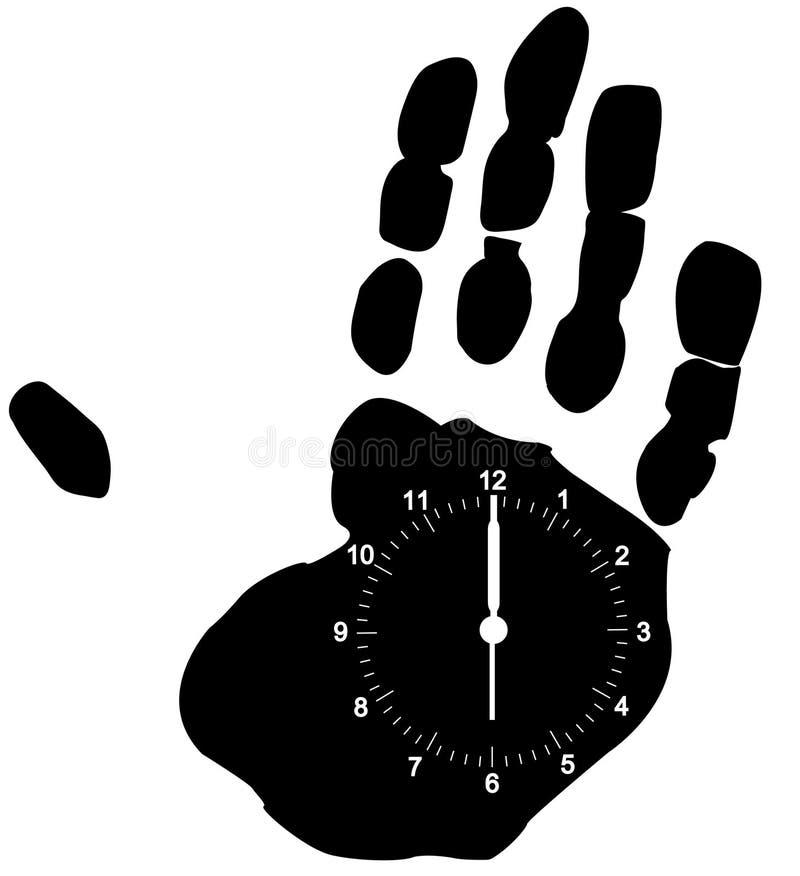 czas twoje ręce ilustracja wektor