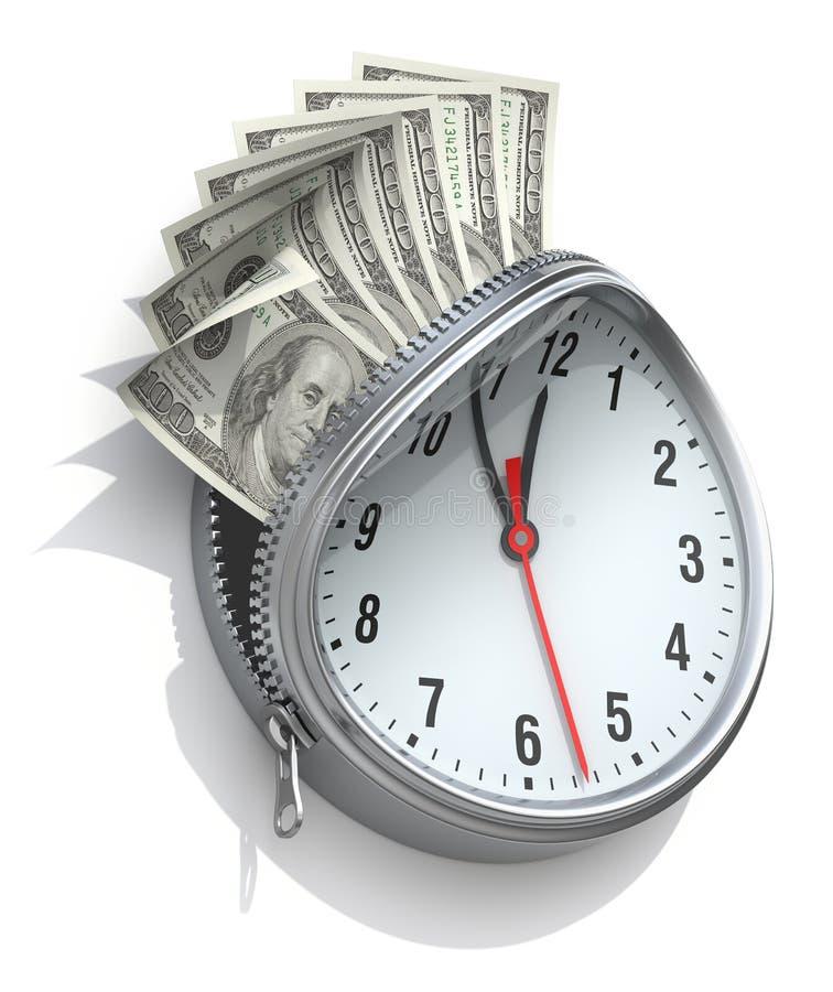 Czas wartość pieniądze pojęcie royalty ilustracja