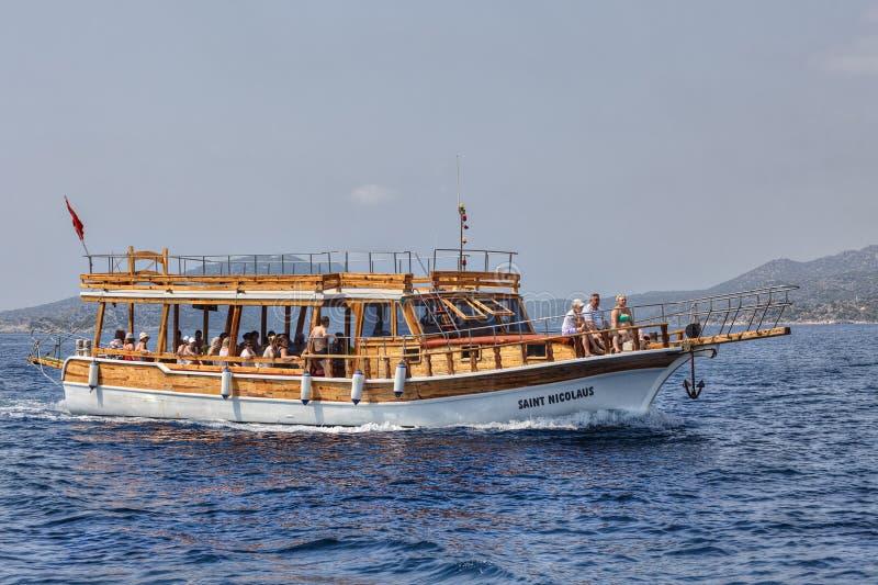 Czas wolny Łódkowata wycieczka Od Kekova wyspy, Antalya prowincja, Turcja zdjęcie stock