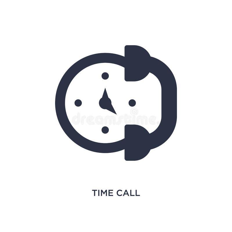 czas wywoławcza ikona na białym tle Prosta element ilustracja od komunikacyjnego pojęcia ilustracja wektor