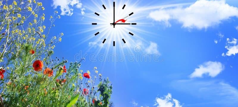 Czas zmiana lato czas obraz stock