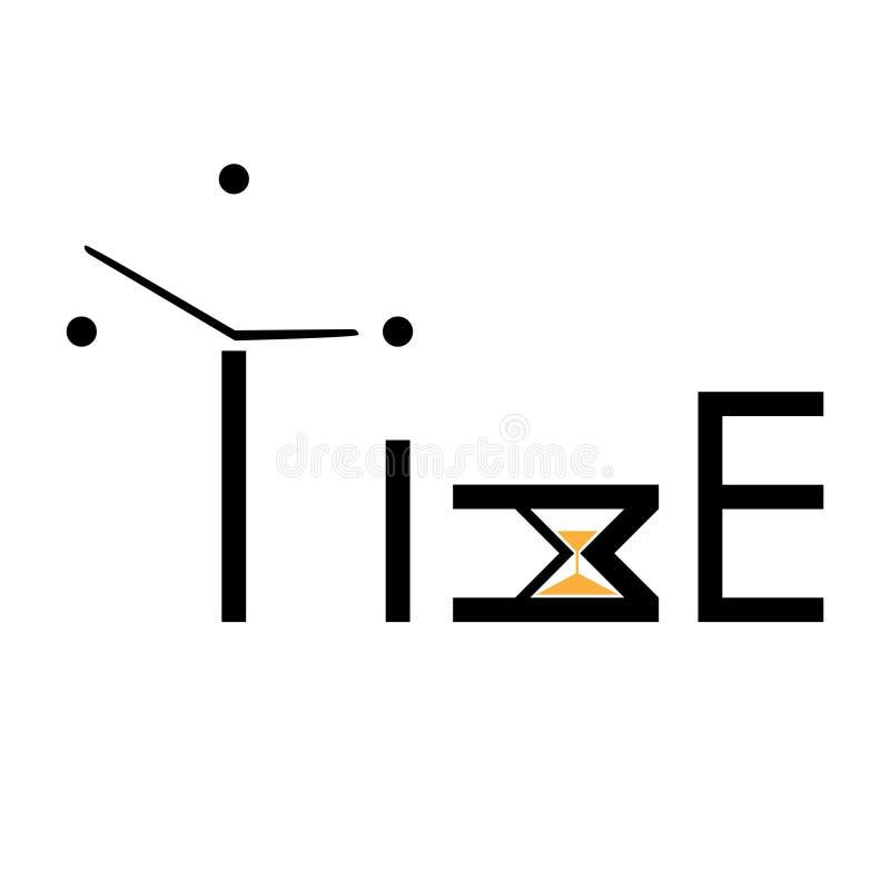 Czasu literowanie Abstrakcjonistyczny logo pomysł, czasu pojęcie lub zegar ikona, Kreatywnie logotypu projekta szablon kaligrafia ilustracji