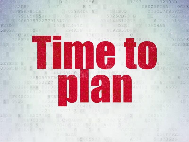 Czasu pojęcie: Czas Planować na Cyfrowych dane Tapetuje tło ilustracja wektor