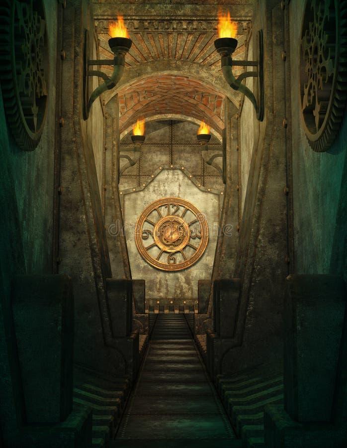 Czasu przejście, 3d CG royalty ilustracja
