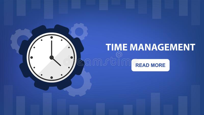 Czasu rozkład dla biznesowego pojęcia i zarządzanie royalty ilustracja
