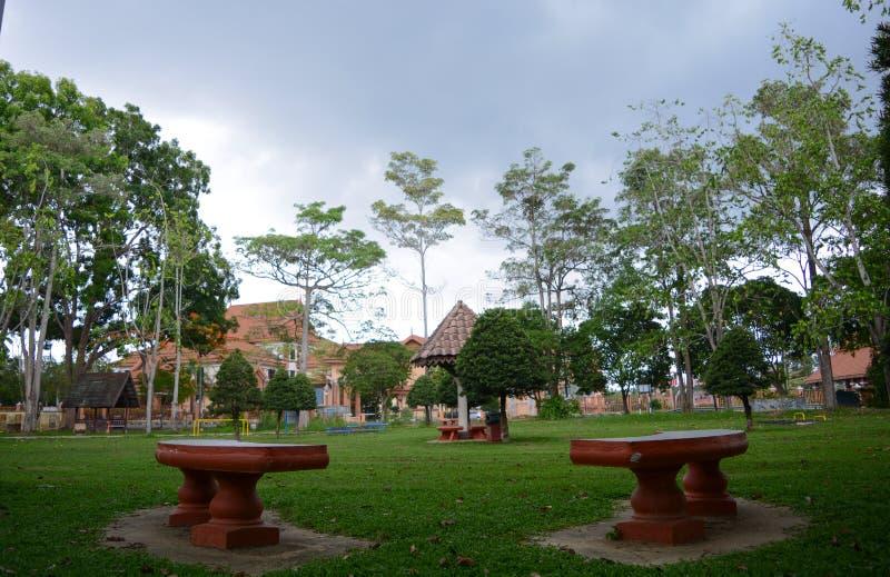 Czasu wolnego park w Taman Tengku Anis, Kelantan obraz royalty free