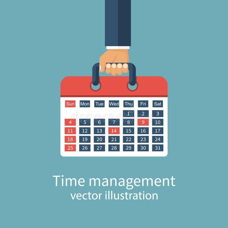 Czasu zarządzania pojęcie ilustracja wektor