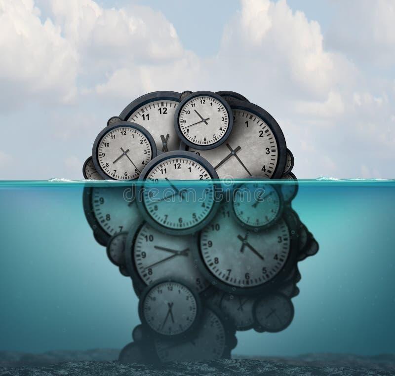 Czasu zarządzania Surrealistyczny pomysł ilustracja wektor