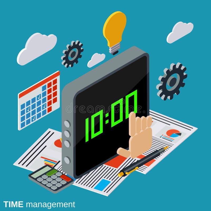 Czasu zarządzanie, biznesowego planowania wektoru pojęcie ilustracji