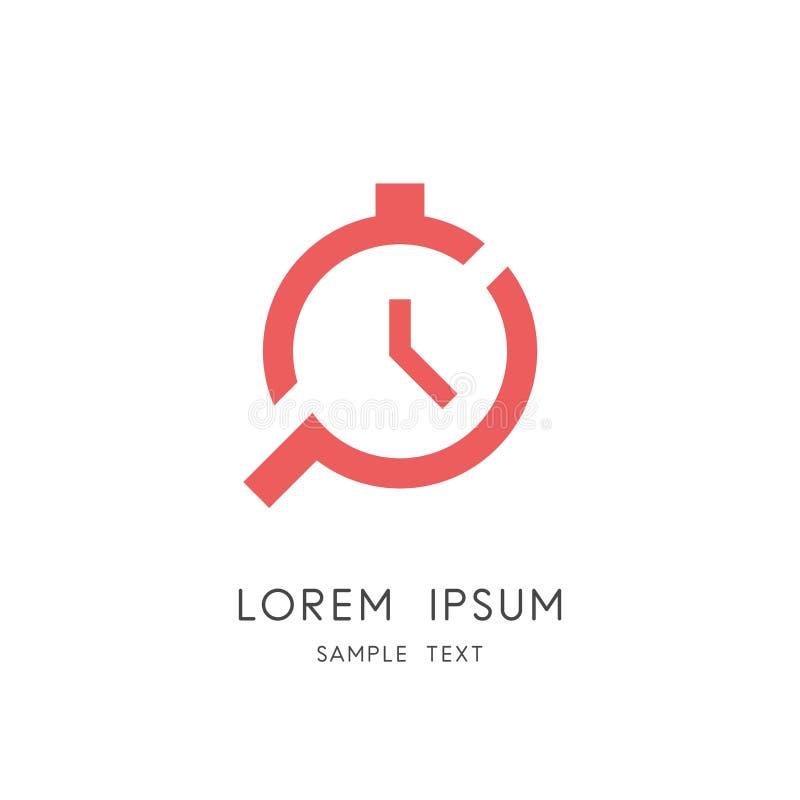 Czasu zarządzanie i rewizja logo ilustracji
