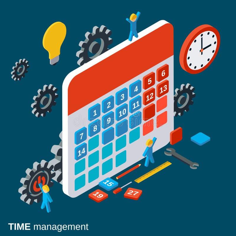 Czasu zarządzanie, pracy planistyczna wektorowa ilustracja royalty ilustracja