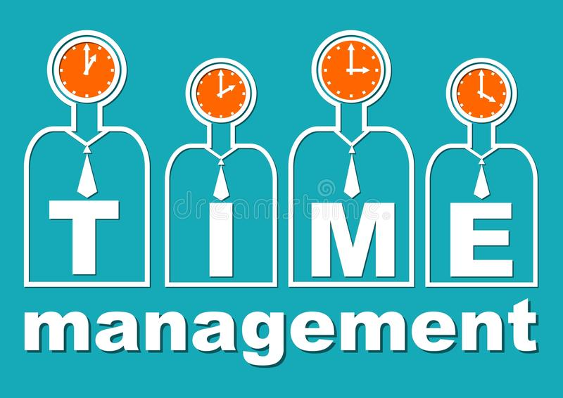 Czasu zarządzanie, znacząco składnik miękki umiejętności szkolenie Prezentacja szablon dla wykładu lub warsztat dla drużyn Pożyte ilustracja wektor