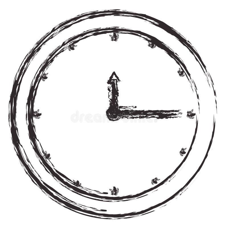 czasu zegarowego zegarka ikona ilustracji