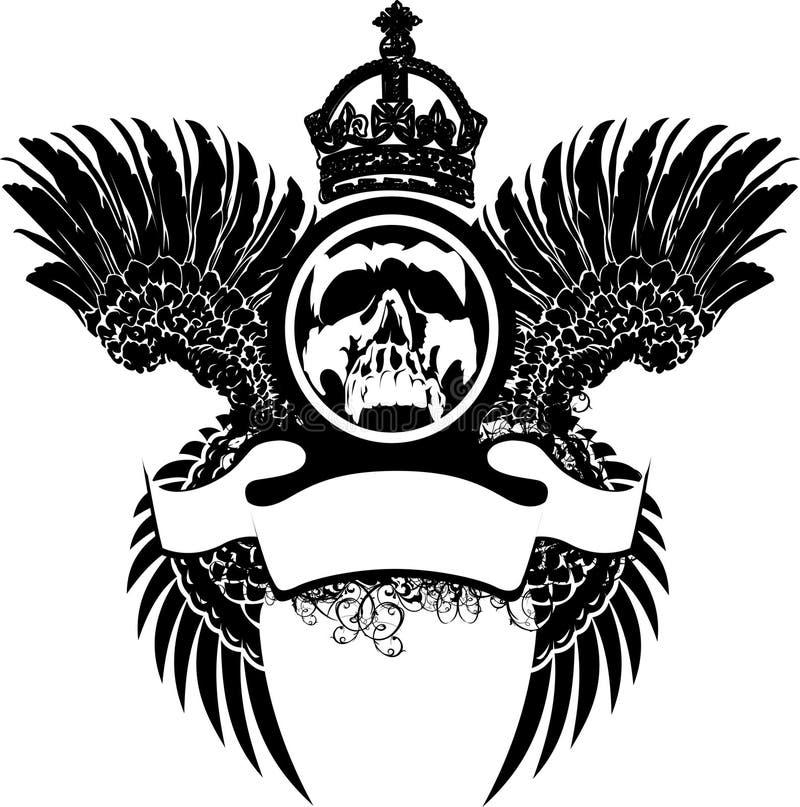 czaszek koronowani skrzydła