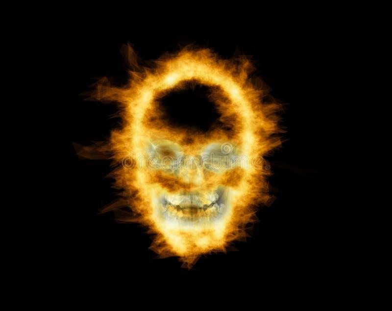 czaszkę płomieni fotografia royalty free