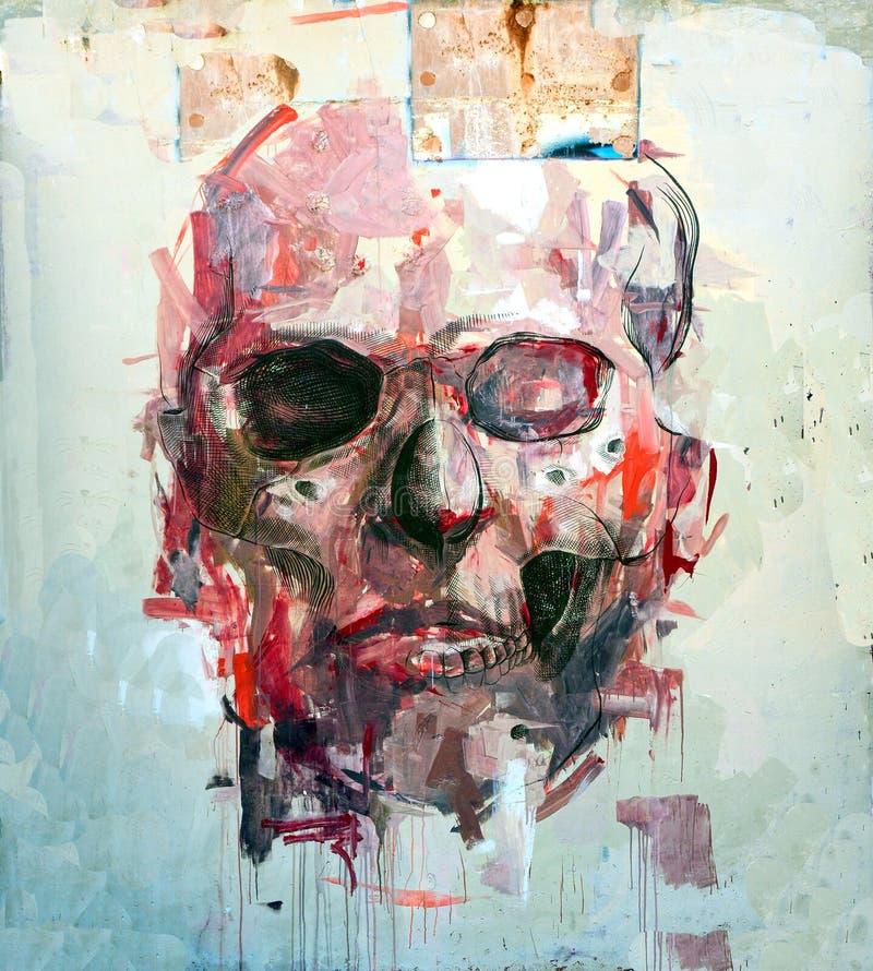 czaszka abstrakcyjna royalty ilustracja