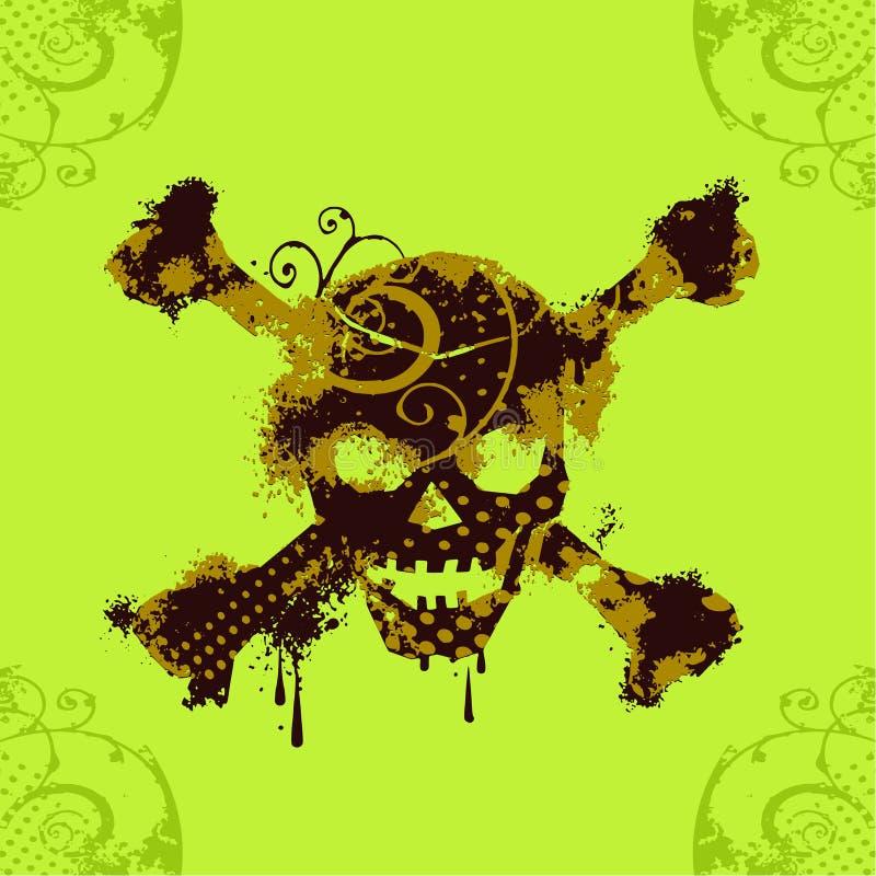 czaszka grungy ilustracja wektor