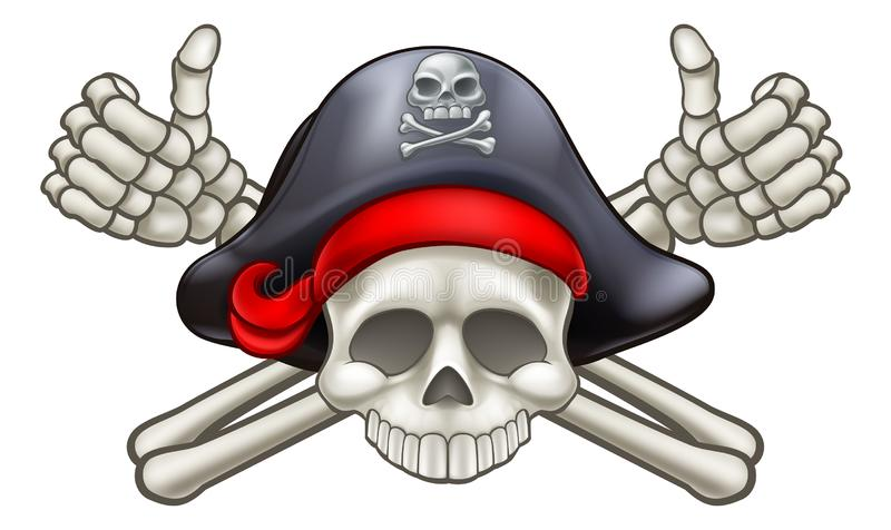Czaszka i Crossbones pirat ilustracji