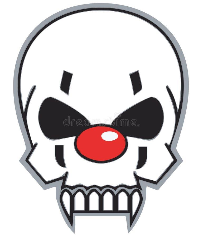 czaszka klaun royalty ilustracja